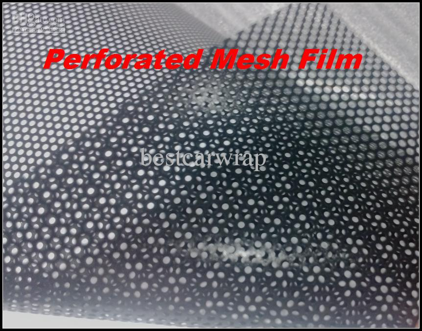 1 roll 1.07x50metersHeadlight Tinting Perforated Mesh Film Like Fly-Eye MOT Legal Tint and for Windows film tinting