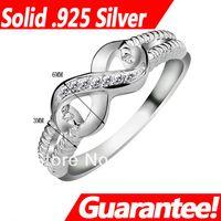 925 sterling silber gestempelt schmuck großhandel-# RI101087 Schmuck Ringe für Frauen Marke Govemmment Zertifikat, 925 Sterling Silber Endless Love S925 gestempelt Lady Infinity Ring