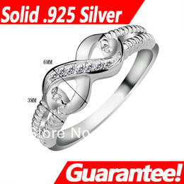 Wholesale Infinity Crystals - #RI101087 Jewelry Rings for Women brand Govemment Certificate, 925 Sterling silver Endless Love S925 Stamped Lady Infinity Ring