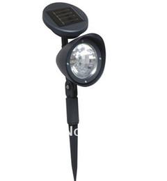 Wholesale Outdoor Spot Lamps - 2Pcs lot 3 LED Outdoor Solar Powered Spotlight Landscape Spot Light LED Garden Lamp