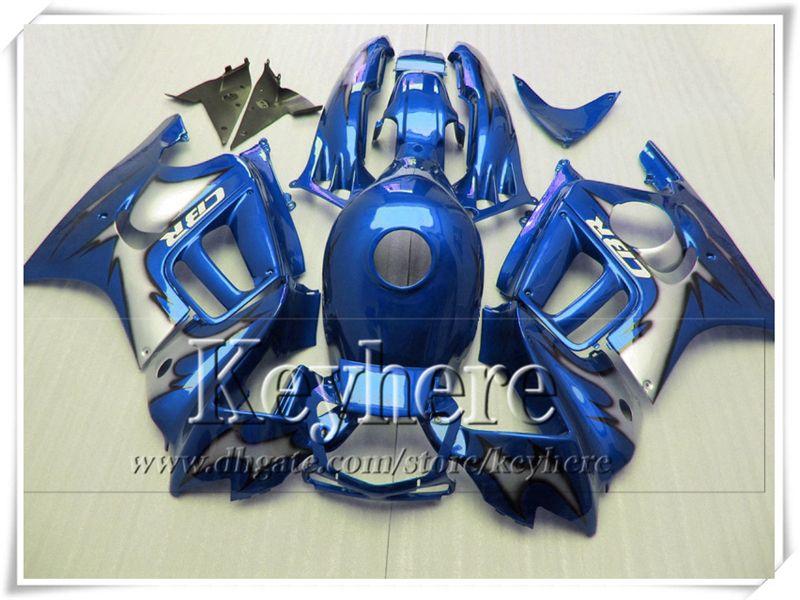 7 regalos gratis! Kit de carenados negro azul para CBR600 1997 1998 Honda CBR 600 97 98 F3 ABS racing motobike partes Fk12
