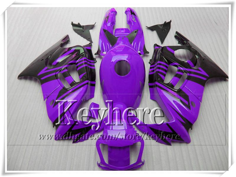 Cheap purple black ABS fairing kit for Honda CBR600 97 98 CBR 600 1997 1998 F3 fairings racing motorcycle parts with 7gifts Fk19