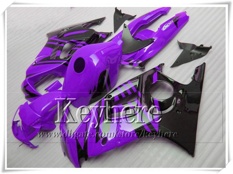 Kit de carenado ABS negro púrpura barato para Honda CBR600 97 98 CBR 600 1997 1998 carenas F3 racing piezas de la motocicleta con 7gifts Fk19