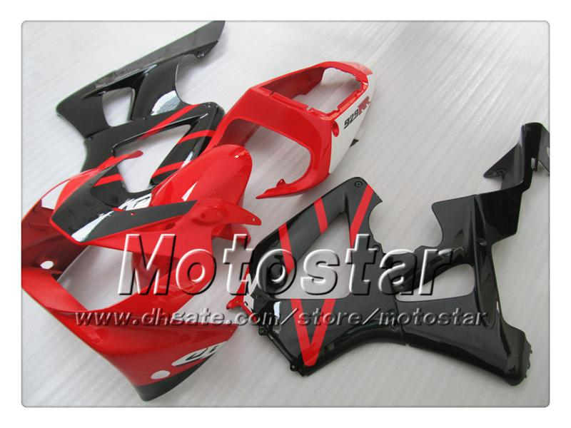 7 Gifts motorcycle fairings for HONDA CBR900RR 929 2000 2001 CBR900 929RR CBR929 00 01 CBR929RR glossy red with black fairing set sy18