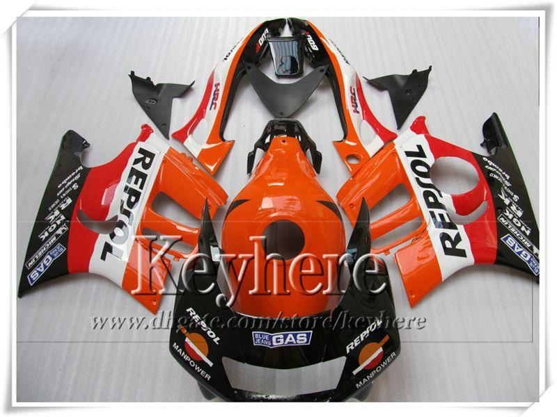 7 regalos gratis! Kit de carenado de moto REPSOL naranja negro popular para CBR600 1997 1998 nuevo mercado de accesorios FK39 de alto grado de Honda CBR 600 97 98 F3