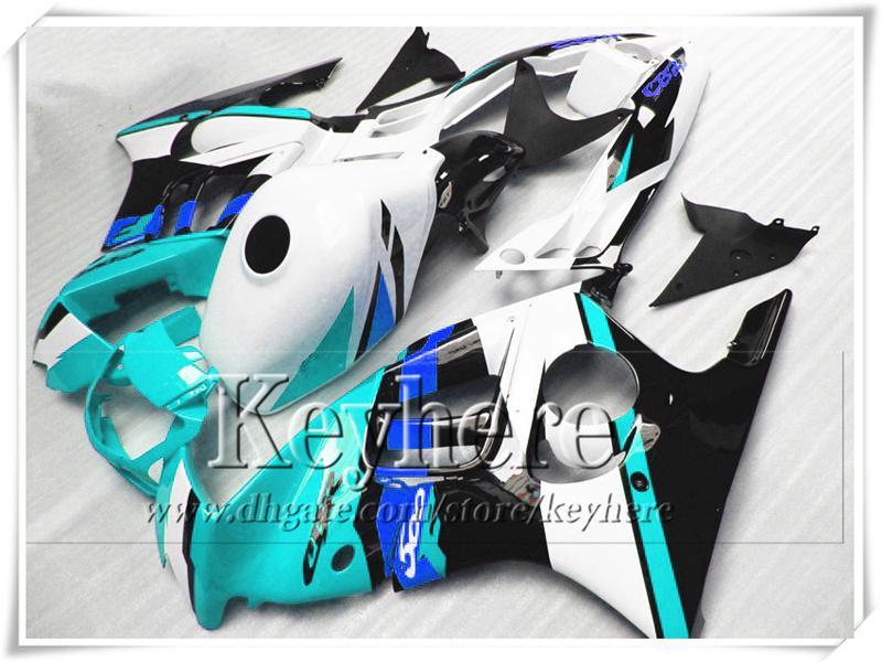 Kit de carenado negro blanco ABS precio bajo azul para Honda CBR600 97 98 CBR 600 1997 1998 carenados F3 piezas de la motocicleta personalizada con 7 regalos Fk46