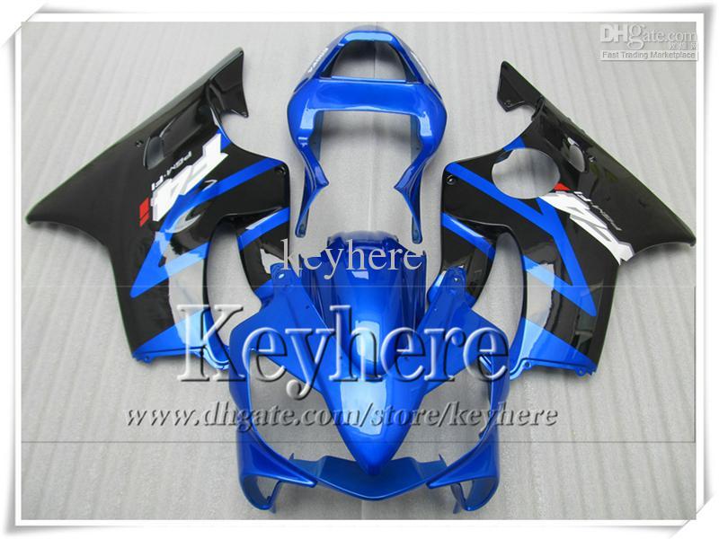 Road/racing motorcycle fairing kit for Honda CBR 600 F4i 2001 2002 2003 black blue ABS moto fairings set CBR600 01-03 YP23
