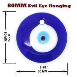 "Wholesale Evil Eye Charm Glass - Lot of 5PCS- 3"" Glass Turkish Evil Eye Judaica Kabbalah Wall Good Luck Charm DIY Eye Accessories.Free Shipping."