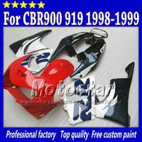 vücut özel cbr toptan satış-HONDA fairing vücut kiti için yüksek kaliteli aftermarket parçalar CBR900RR 919 CBR 1999 CBR919RR 1998 CBR919 98 99 özel ABS kaporta