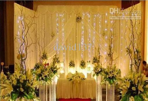 Última pasarela de cristal para eventos de boda, decoración de boda de pilar de cristal de alta calidad