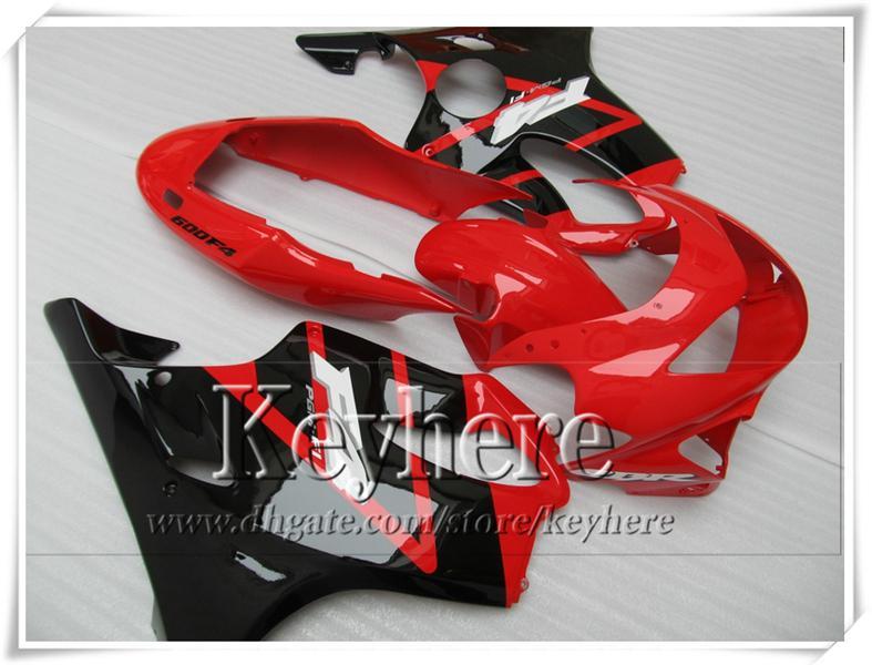 Kit de carénage de carrosserie noir rouge pour CBR 600 99 00 Honda CBR600 F4 1999 2000 personnaliser le kit de carénage de moto avec 7 vitesses VT9