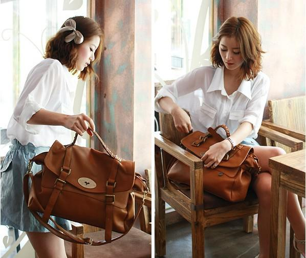New Vintage Women Pu Leather Messenger Purse Handbag Shoulder Bag ...