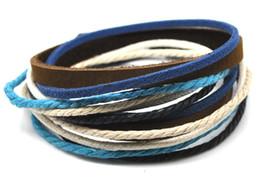 Wholesale Fashion Design Items - Promotion Handmade Real Leather Bracelet new arrival high quality fashion and hemp ethnic wrap bracelets item C mix design