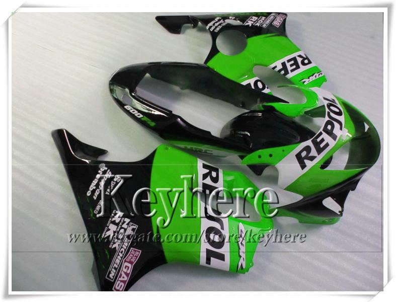 Las piezas populares de la motocicleta de carreras del verde negro para CBR600 F4 99 00 Honda CBR 600 1999 2000 carenados de la carrocería fijan con 7 regalos VT32