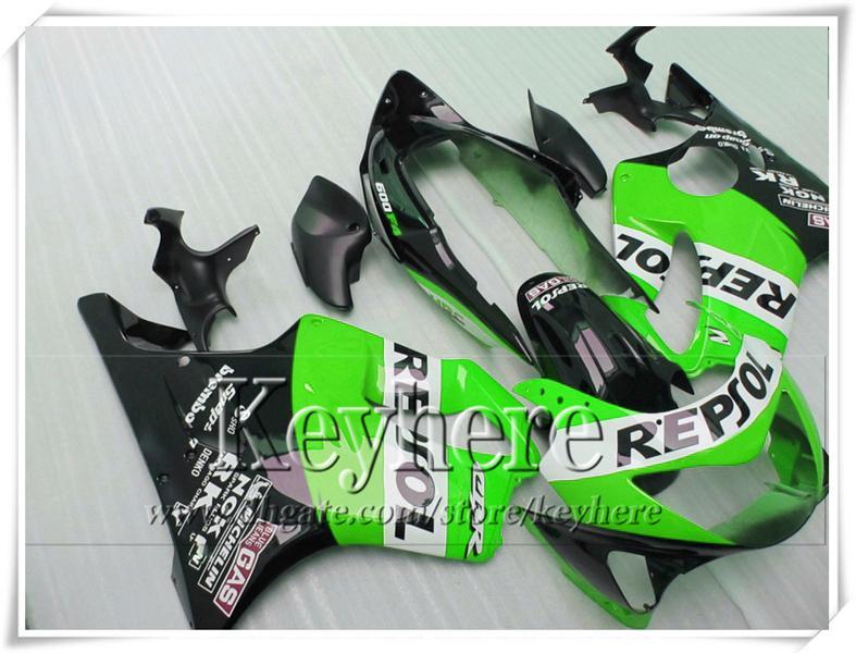 Populäre schwarze grüne Rennmotorradteile für CBR600 F4 99 00 Honda CBR 600 1999 2000 Karosserieverkleidungen eingestellt mit 7 Geschenken VT32