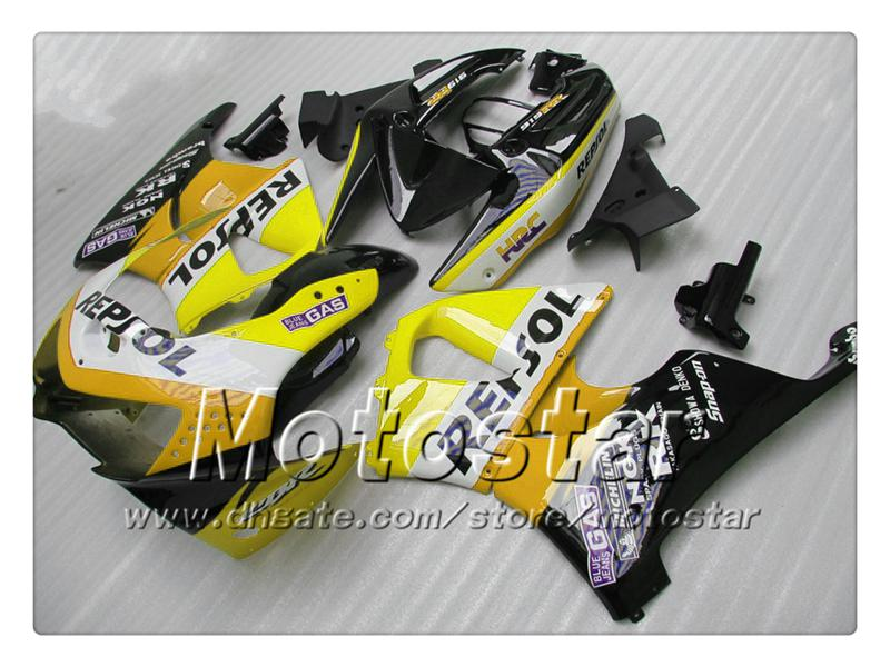 Anpassen gelb orange schwarz Repsol Verkleidungen für Honda CBR900RR 919 CBR 1999 CBR919RR 1998 CBR919 98 99 ABS-Verkleidungssätze