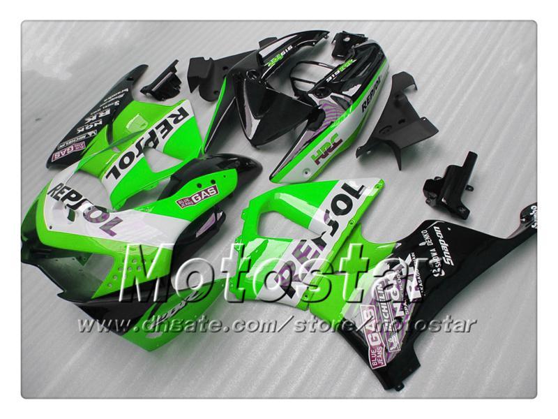7Geschenke weiß grün schwarz Repsol Verkleidungssatz für Honda CBR900RR919 CBR 1999 CBR919RR 1998 CBR919 98 99 Custom ABS Verkleidungsteile
