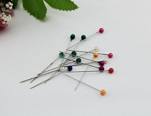 Nuevo Multi-Color de cabeza redonda Faux Perla decorativa Pin Costura Costura Pin