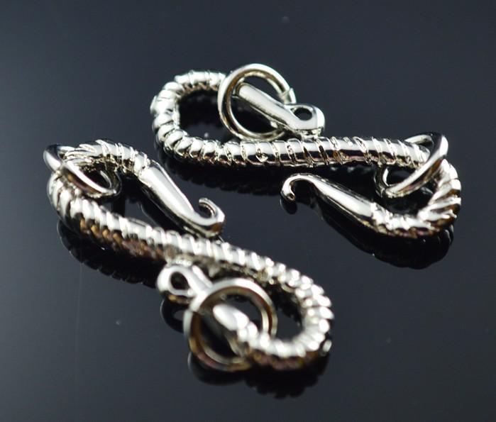 Gratis verzending 22 * 7mm mode nieuwe stijl s vorm imitatie platina platgle toggle sier sieraden bevindingen