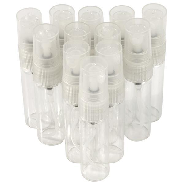 300 Unids / lote Vidrio 5 ml Atomizador Bombas Rellenables Botellas de Aerosol de Maquillaje Botella de Perfume Botella de Agua Aromática Botella de Olor Vacía