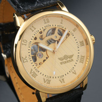 2019 Ankunft Herren Golden Case Skeleton Dial Clear Back Mode Roma Dial Watch Freies Verschiffen