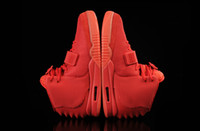 Wholesale kanye west red octobers - Kanye West SP Red October Sports Shoes With Original Packages With Dust Bag Mens Sneakers Kanye West II boost Glow Dark Outdoor Athletic