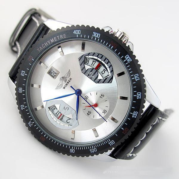 الميكانيكية ووتش الرجال الفائز خمر الهيكل العظمي الميكانيكية اليد الرياح رجل الساعات اللباس الجلود الفرقة ساعة اليد والعتاد reloj hodinky