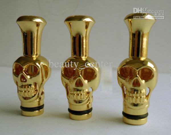 Skull Drip Tip Metal Drip Tips Mouthpiece for eGo EE2, Vivi Nova DCT Atomizer E Cigarette Drip Tip Electronic Cigarette