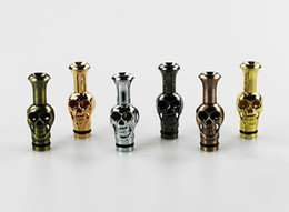 Wholesale Electronic Mouthpiece - Skull Drip Tip Metal Drip Tips Mouthpiece for eGo EE2, Vivi Nova DCT Atomizer E Cigarette Drip Tip Electronic Cigarette