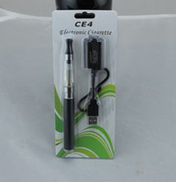 Wholesale Electric Cigarettes Sets - electric cigarette 650Amh ego ce4 suit blister clearomizer vaporizer ago click n vape smoking pipe metal