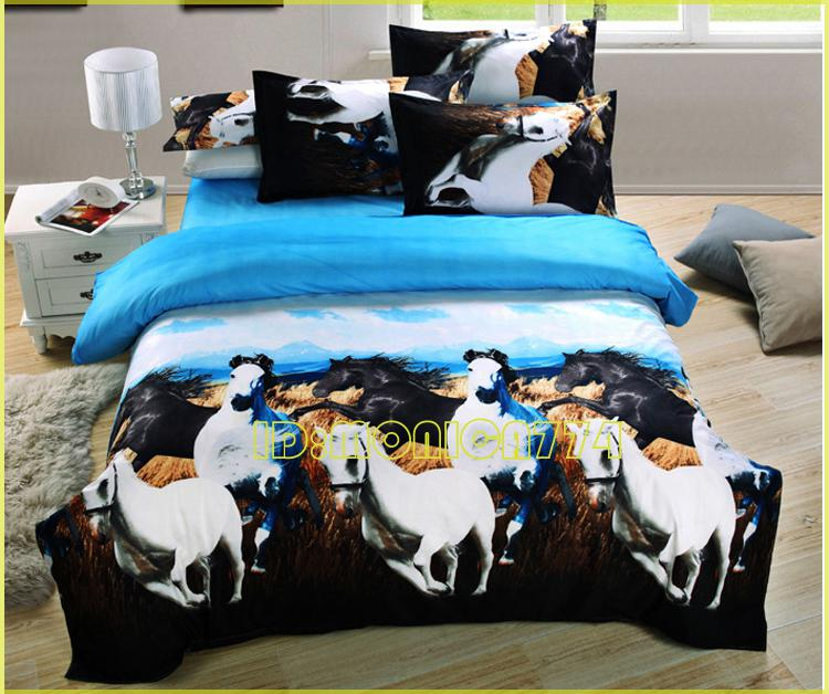 Luxury 3d Animal Horse Painting Bedding Kids Ladies Girls