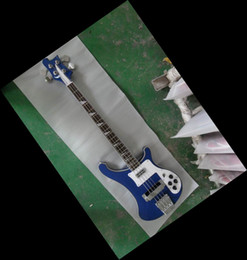 Wholesale Bass Pieces - New 4-string bass 4003 Electric BASS Guitar one piece neck  with side binding blue 130801