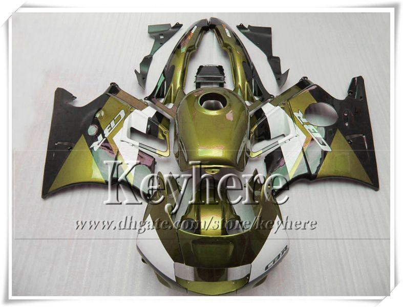 Hoge Kwaliteit Golden Black Fackings Kit voor Honda CBR 600 91 92 93 94 Karrenset Set CBR600 1991 1992 1993 1994 F2 met 7 geschenken PJ23