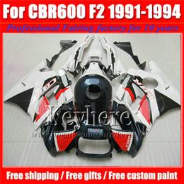 $enCountryForm.capitalKeyWord Canada - custom white black red fairing kit for Honda CBR 600 91 92 93 94 fairings CBR600 1991 1992 1993 1994 F2 motorcycle parts with 7 gifts Pj25