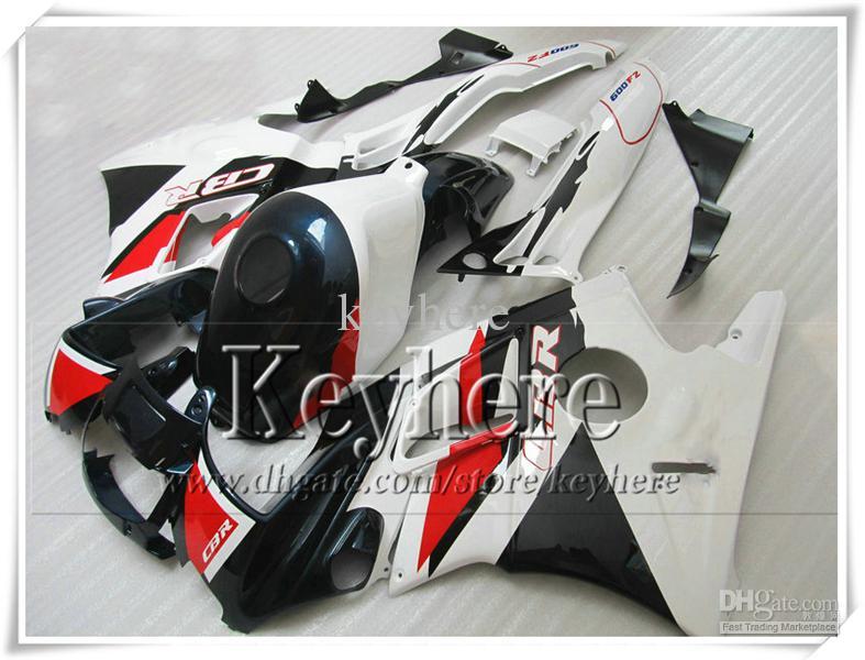 kit de carenado personalizado rojo blanco negro para Honda CBR 600 91 92 93 94 carenados CBR600 1991 1992 1993 1994 piezas de la motocicleta F2 con 7 regalos Pj25