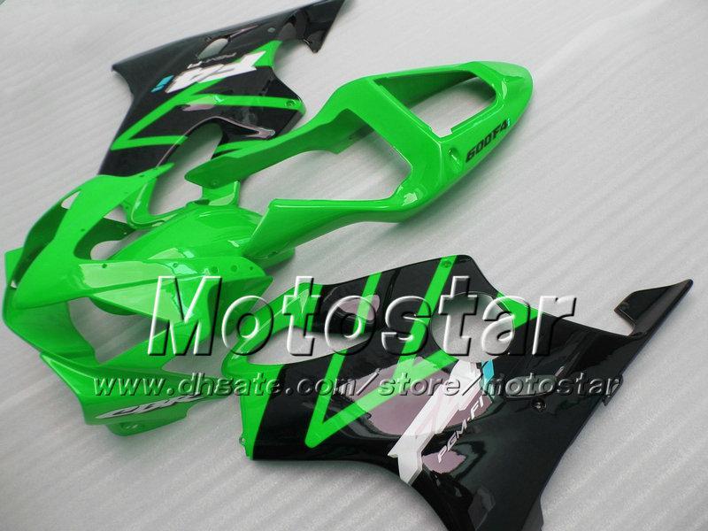 Einspritzverkleidungssätze für HONDA CBR600 F4i 2001 2002 2003 CBR600 F4i ABS Verkleidungen cbr 600 f4i 01 02 03 glänzend grün