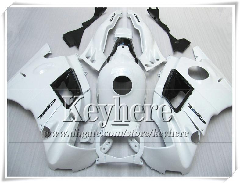 Populaire F2 91 92 93 94 cbr600 kits de corps de carénage noir blanc pour Honda CBR 600 1991 1992 1993 1994 carénages de carrosserie avec 7 cadeaux Pj36