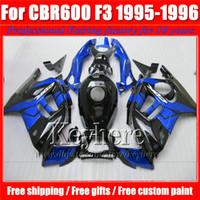 Wholesale 1996 Honda Cbr F3 Fairings - Free 7 gifts blue black customize motorcycle fairing kit for Honda CBR 600 95 96 CBR600 1995 1996 F3 fairings set Ky1