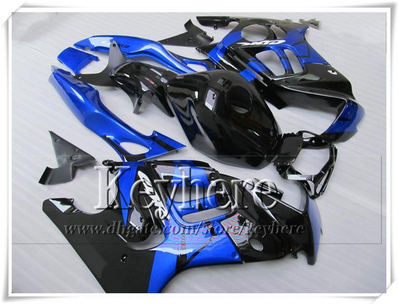 Gratis 7 regalos azul negro personalizar kit de carenado de la motocicleta para Honda CBR 600 95 96 CBR600 1995 1996 F3 carenados conjunto Ky1