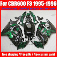 Wholesale 1996 Cbr F3 Green Fairing - Free 7 gifts green black customize motorcycle fairing kit for Honda CBR 600 95 96 CBR600 1995 1996 F3 fairings set Ky4