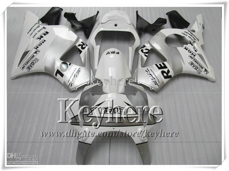 Lage Prijs Silver Repsol Body Work Fairing Kit voor Honda CBR900RR 954 2002 2003 CBR954RR 02 03 CBR900RR-Verklei Set met 7Gifts SY21