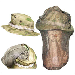 Wholesale Dome Round Hat - Tactical Train Airsoft Anti-bee BOONIE HATS Round-brimmed Sun Bonnet Sniper Outdoor sports fishing Camping dome Hat