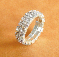 Wholesale Favorite Factory - Star Favorite Accessories Jewelry Wide Rhinestone Ring Delicate Cluster Rings Factory Supply