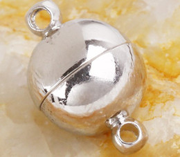 Wholesale Nickel Free Findings - Free shipping Nickel Plated 8mm Magnetic Clasps Jewelry finding