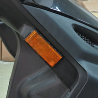 1 * Amber LED Rectangle Reflector Rodar Sinal Luz Universal Motocicleta Carro Auto