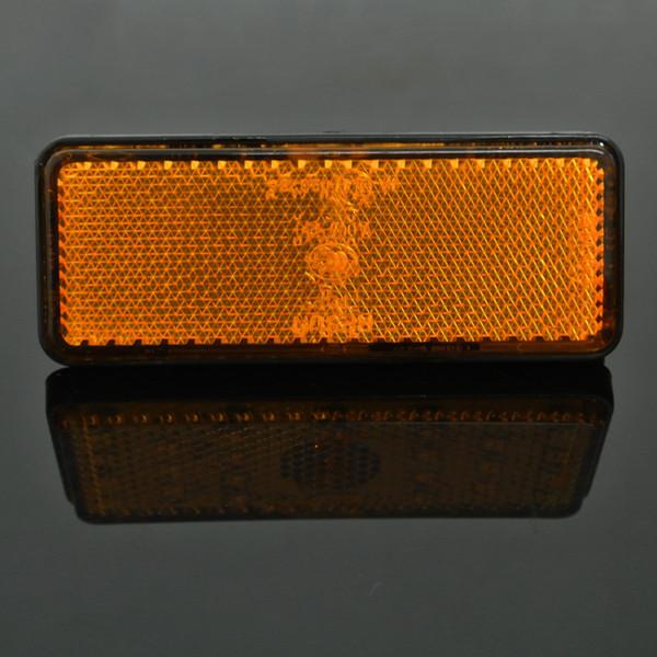best selling 2X Amber Rectangle LED Reflectors Turn Signal Light Universal Motorcycle Reflectors lights