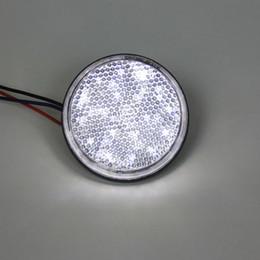 Wholesale Motorcycle White Led - 5% off ! 2*White LED Reflector Round Brake Light Universal Motorcycle Car Truck