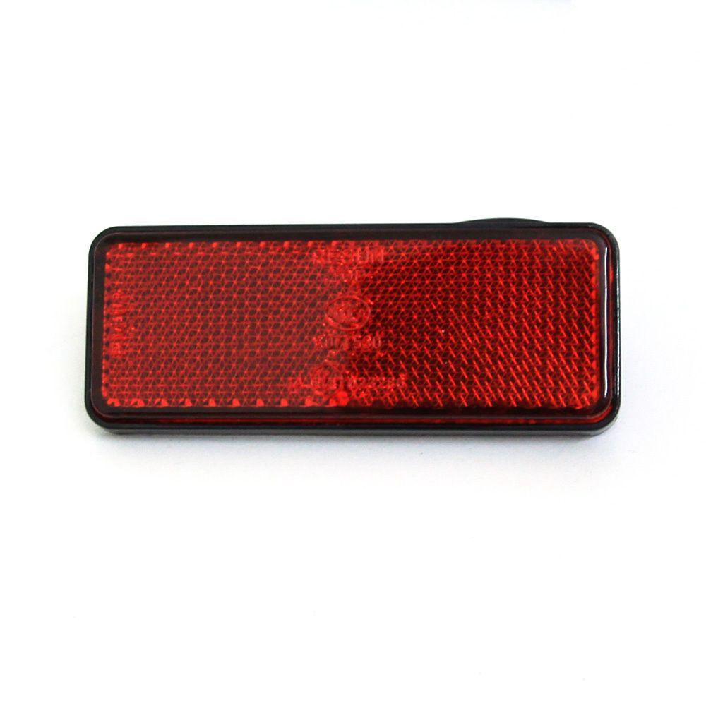 2x Rode LED Rechthoek Reflectoren Remlicht Universele Motorfiets Rechthoek Auto Rechthoek