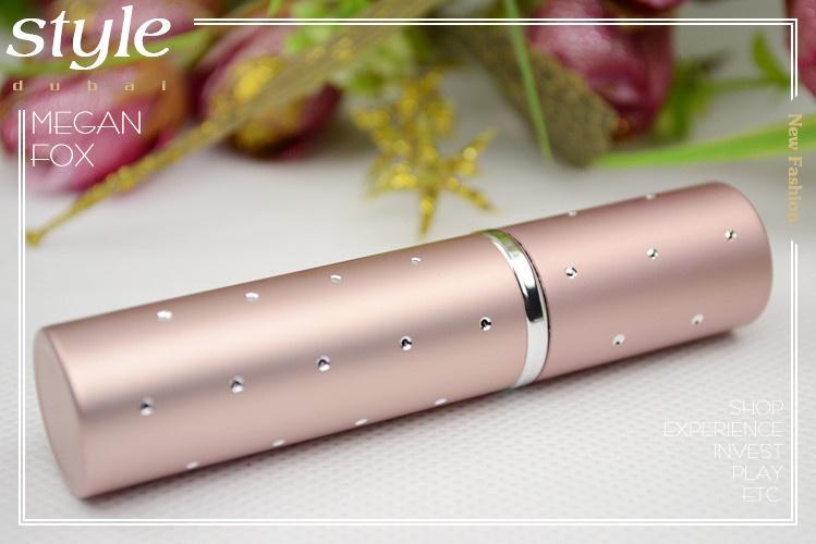 Moda Nueva Viajes Perfume Botellas Atomizadores Spray Recargable Maquillaje Vacío Aftershave es Botella de Metal Mejores Regalos HK Post Gratis