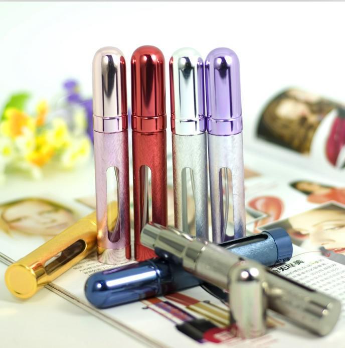 Venta al por mayor 100 UNIDS DHL Recargables Vacíos Atomizadores de Viaje Perfume Botella Spray Maquillaje Aftershave es Metal Bottle12ML Venta al por mayor PB009